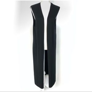 Vince Camuto Black Sleeveless Cardigan Duster L
